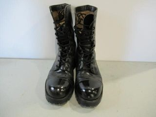 Black Combat Boot  Vibram Sole Size 8 1 2
