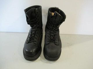 Terra Black leather Combat Boot CSA Saftey 8 1 2