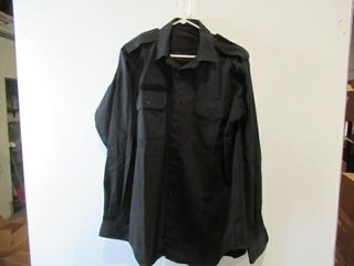 2  Black long Sleeve Naval Combat Shirts