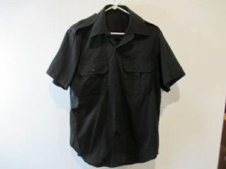 2  Black Short Sleeve Naval Combat Shirt Size 16