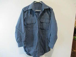2  As Is Blue Naval Combat Shirts  Size 15  32