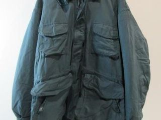 Heavy Blue Parka with Hood Size X large Tall