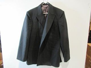 Mens Black Dress Jacket Size Medium Regular