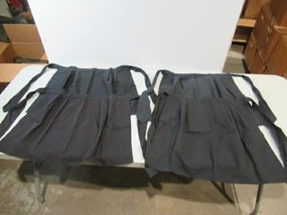 lot of 4 Black Waist Aprons