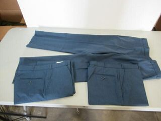 3  Pair Mens Blue Dress Pants Size Small Regular