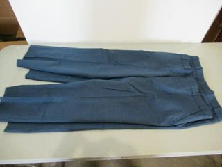 2  Pair Mens Blue Dress Pants Size Small Tall
