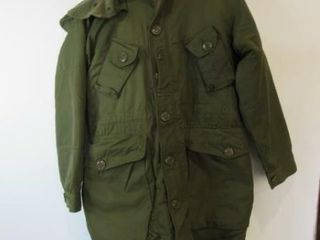 OD Green Combat Parka Size 4 Regular Small