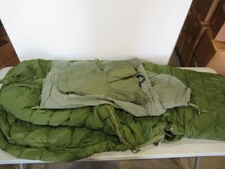 Cold WEather Sleeping Bag with liner   Hood
