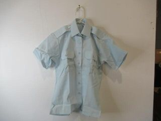 Womens Short Sleeve Dress Shirt Size 10 l