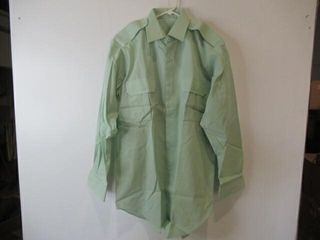 Mens Green long Sleeve Dress Shirt Size 16 34