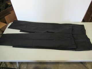 2  Pair Mens Black Dress Pants Size Medium Tall