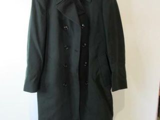 Mens Double Breasted Army Dress Overcoat