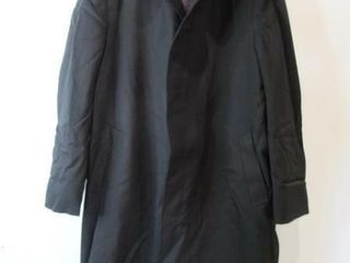 Mens Black Dress Overcoat Size large Tall