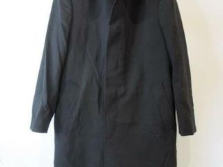 Mens Black Dress Overcoat Size Medium Tall