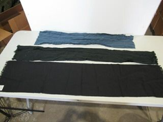 lot of 3 As Is Dress Scarves Blue  Green  Black