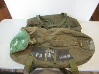 2  Used Army Duffle Bags