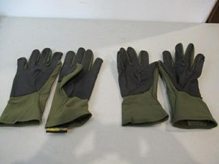 2  As Is Pairs Green Gloves Size Medium large