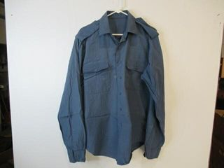 Mens long Sleeve Naval Combat Shirt Size 16 1 2 38