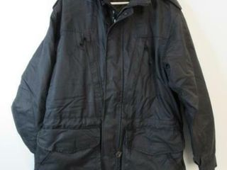 As Is Black Naval Parka Size Medium Tall