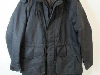 As Is Black Naval Parka Size large Regular