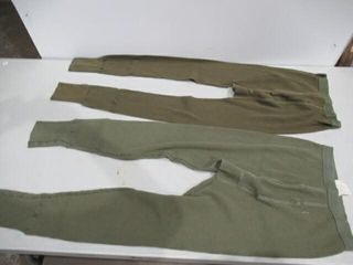 3  Pairs Green Underwear Bottoms Size Medium