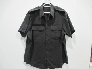 2  Black Short Sleeve Navy Combat Shirt Size 17