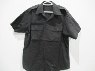 2  Black Short Sleeve Navy Combat Shirt Size 16