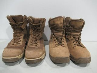 2  Pairs Tan Combat Boots Terra land Operations