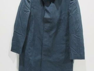 Mens Blue Dress Overcoat with liner Size Medium
