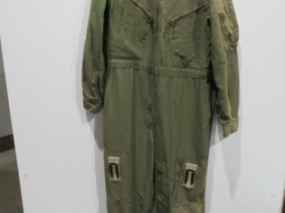 Mens Green Combat Flyers Coveralls Size Medium