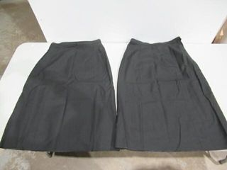2  Womens Skirt  Service Dress  Black Heavy