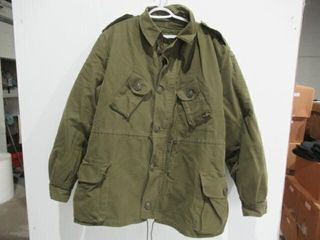 Mens OD Green Combat Jacket with liner Sz Xl Tall