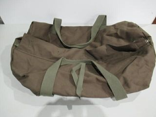 As Is Green Army Duffle Bag Approx 30  long