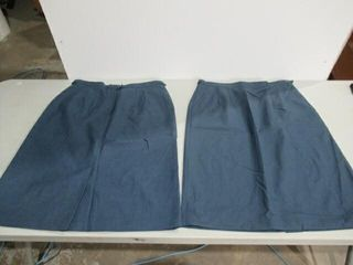 2  Womens Blue Dress Skirt Size H44 1 2