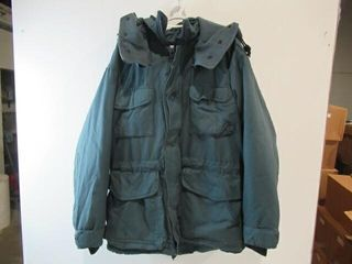 Blue ECW Parka with Removable Hood Size Medium