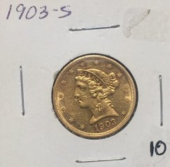 1903-S Gold $5 Coin