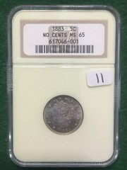 1883 NGC MS65 5 Cent