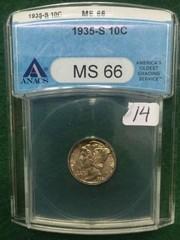 1935-S ANACS MS66 10 Cent