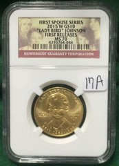 2015 W Gold $10 NGC MS70 Lady Bird Johnson