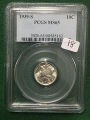 1939-S PCGS NS65 10 Cent