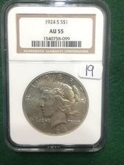 1924-S NGC AU55 Peace Dollar