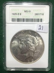 1925-S ANACS MS61 $1 Coin