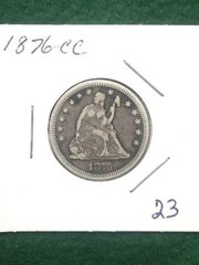 1876-CC $.25 Coin