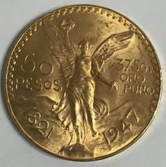 1947 Gold 50 Pesos, 37.5g