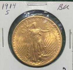 1914-S Gold $20 Saint Gaudens