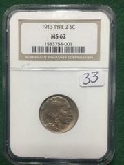 1913 NGC MS62 5¢ U.S. Buffalo Indian Head Nickel