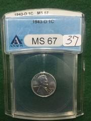 1943-D ANACS MS67 1¢ U.S. Steel Penny Cent