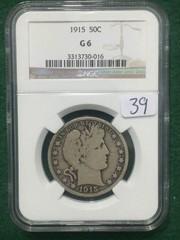 1915 NGC G6 50¢ U.S. Barber Half Dollar