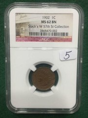 1902 NGC MS62 BN Cent