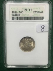 1916 MS61 ANACS 10 Cent